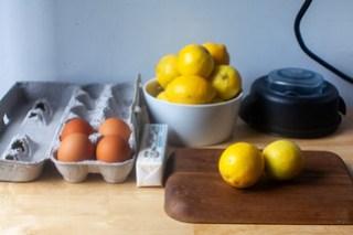 eggs, butter, lemon