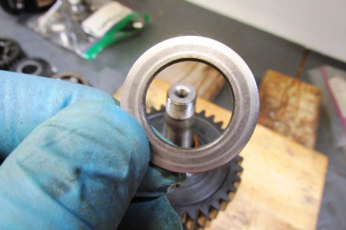 Output Shaft 1st Gear Washer Next To Rear Ball Bearing-Chamfered Side Faces 1st Gear Bushing