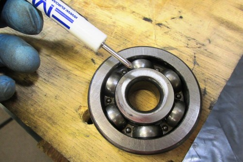 Output Shaft Rear Ball Bearing Face Next To 5th Gear Wear Pattern
