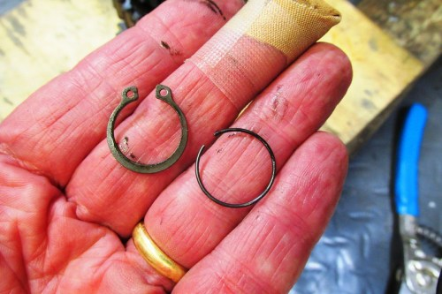 Output Shaft Rear Ball Bearing Lock Ring and Snap Ring-I Replace Both Of Them