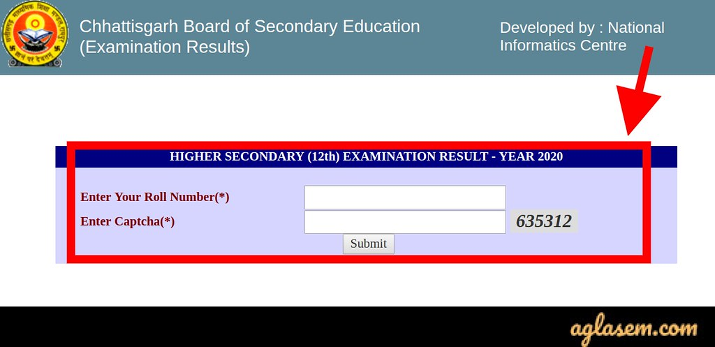 CGBSE 12th Result 2020