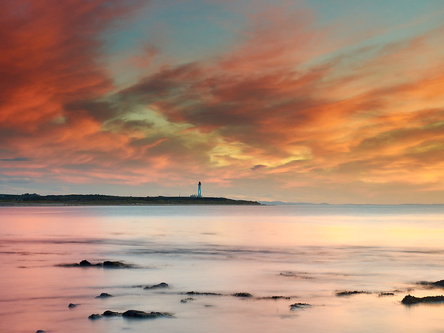 Solstice Pinks over Covesea Lighthouse