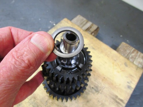 Output Shaft 5th Gear Washer Side With Chamfered Hole Goes Against Splines On Shaft