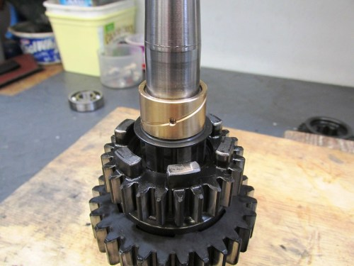 Output Shaft 1st Gear Bushing Installed