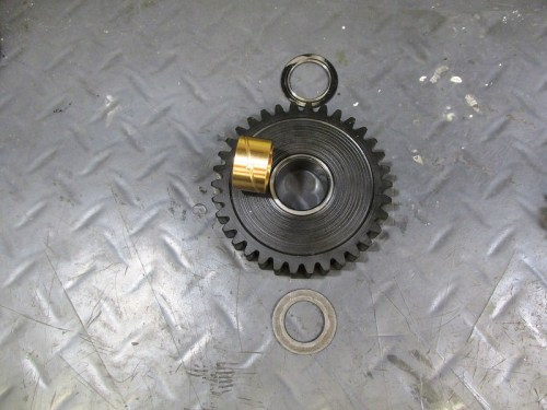Output Shaft 1st Gear With New Bushing And Original Flat Washers
