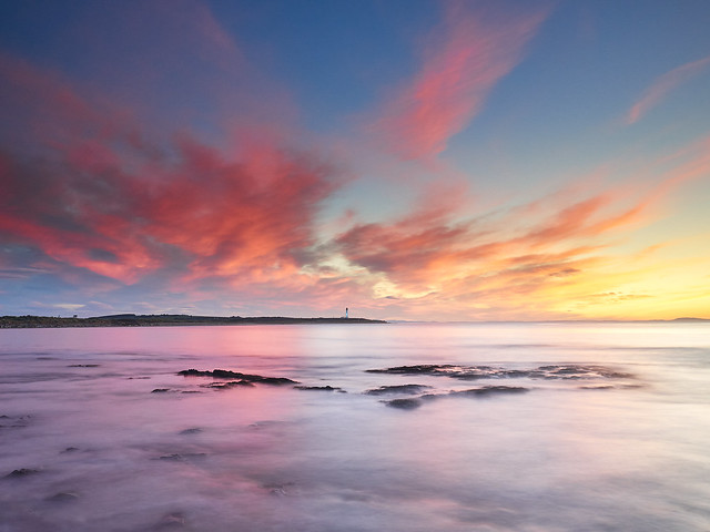 Pink Clouds over Covesea Lighthouse
