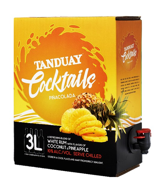 Tanduay Cocktails  Pinacolada with spout