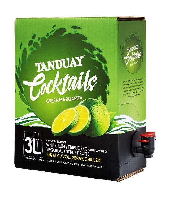 Tanduay Cocktails  Green Margarita with spout