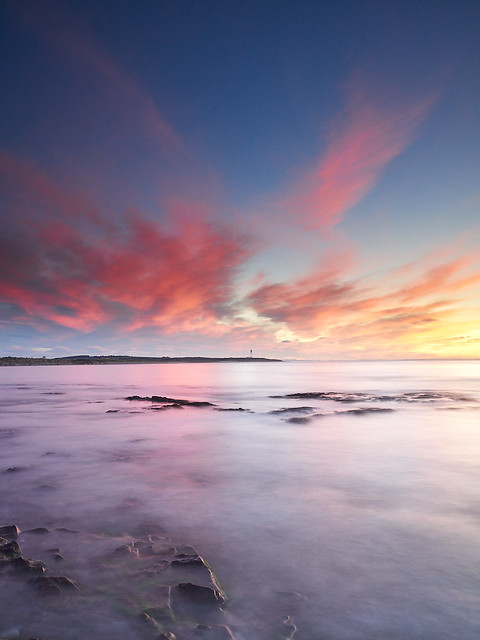 Pink Clouds over Covesea Lighthouse IV