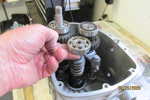 Input Shaft Slides Into Roller Bearing Race In The Case