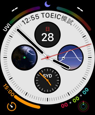 Apple Watch series 5 screen dial infograph