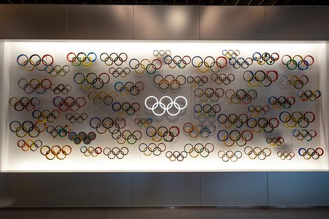 Olympic logos at Japan Olympic Museum