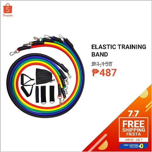 Shopee 7.7 Free Shipping Fiesta Elastic Training Band