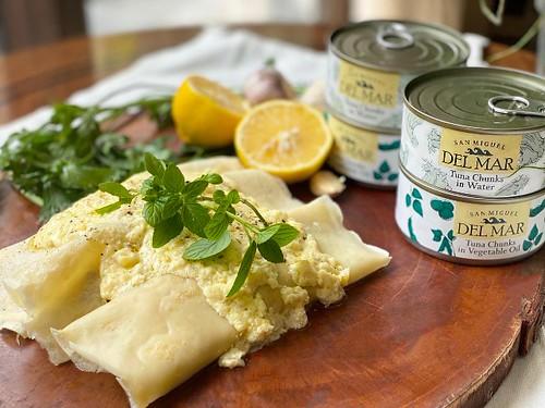 Happy Ongpauco - Tiu's Tuna Crepes with Truffle Mushroom Cream Sauce San Miguel Del Mar Tuna