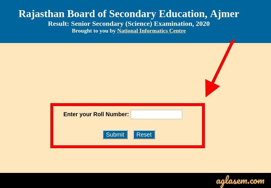 Rajasthan Board 12th result 2020
