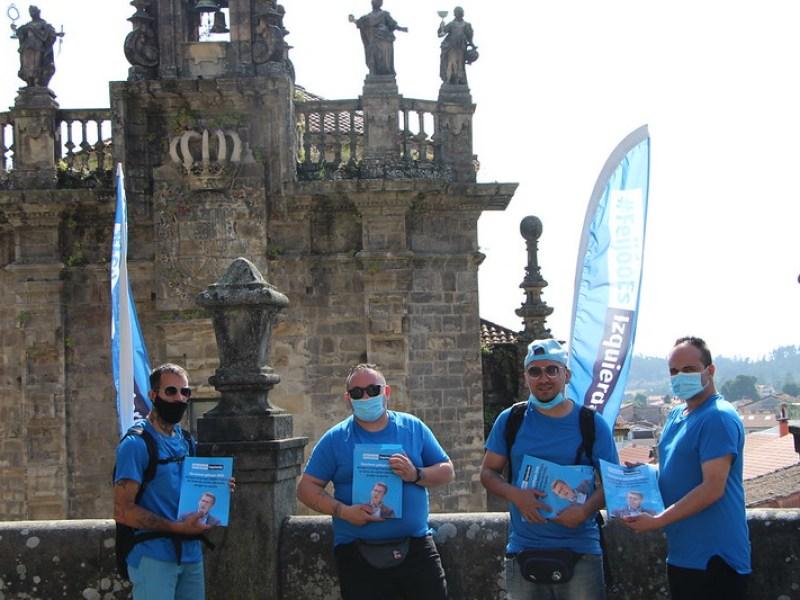 La campaña #FeijóoEsIzquierda presente en Santiago de Compostela