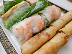 Spring and Summer Rolls Sampler from Bistro Southeast