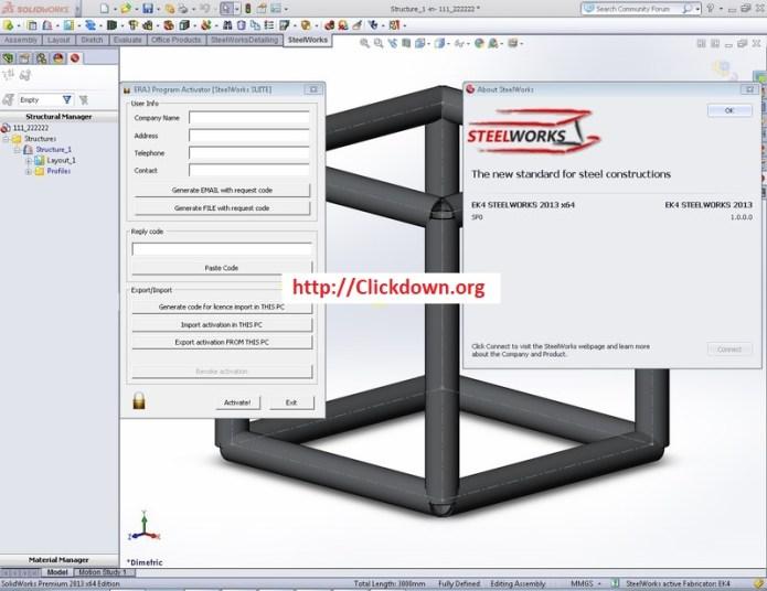 Working with EK4 SteelWorks 2013 full