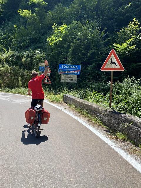 Wir erreichen die Toskana