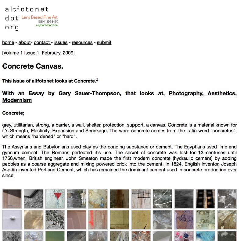 first issue of altfotonet.org