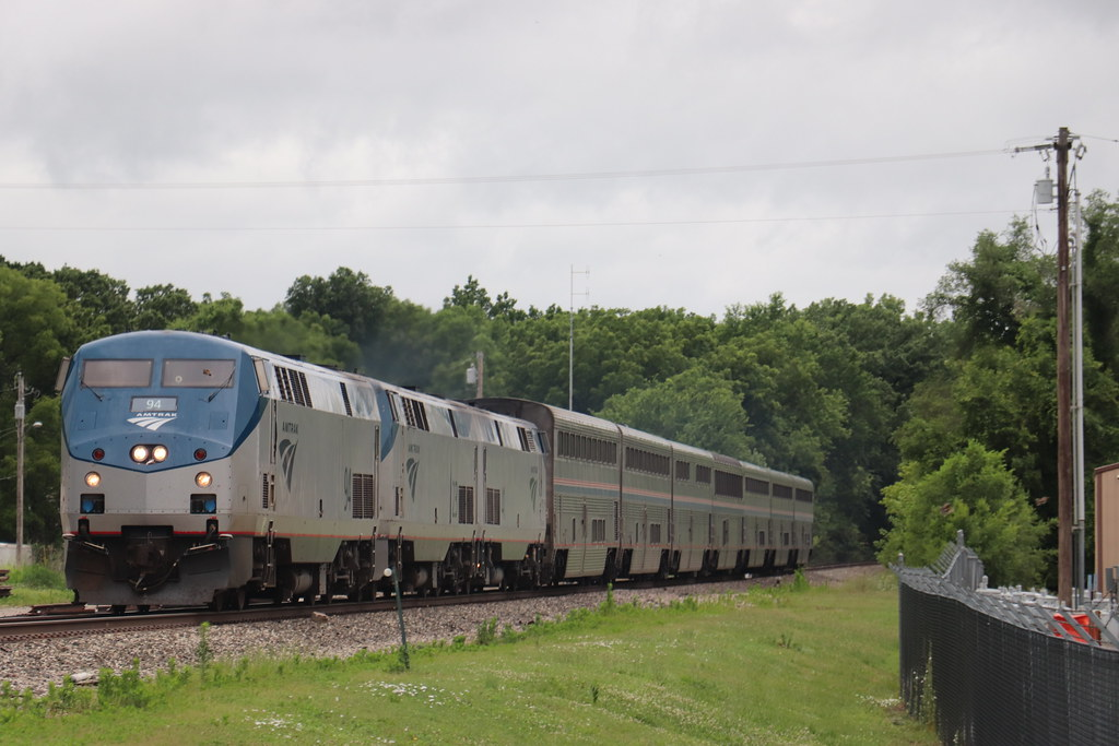 Trio of Late Amtrak trains