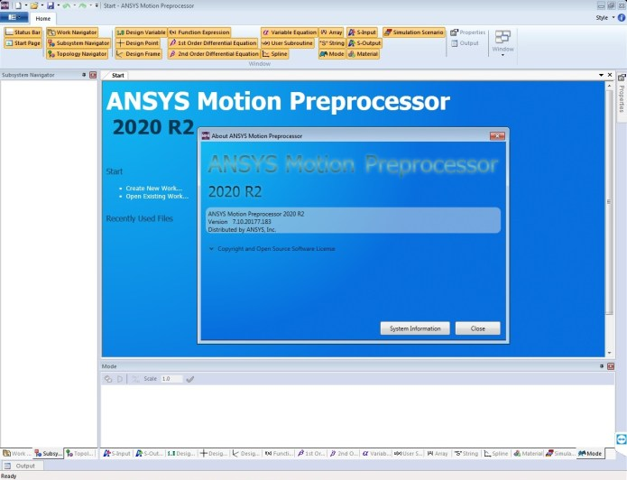 Working with ANSYS Motion 2020 R2 full license