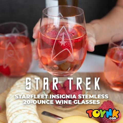 STAR TREK STEMLESS WINE GLASSES 1080