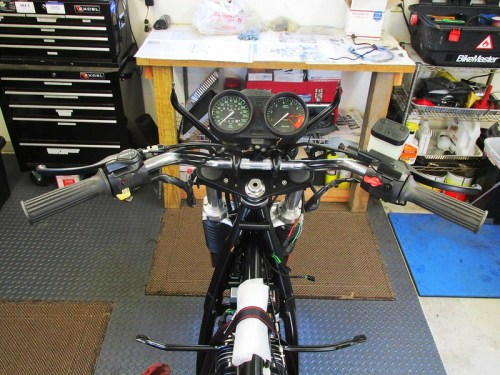 Handlebars, Perches and Switches Installed