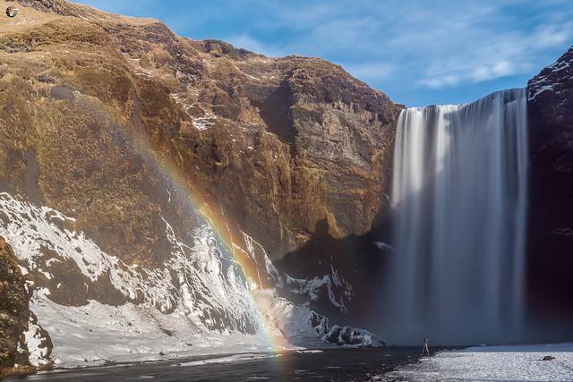 Rainbow at Skógafoss