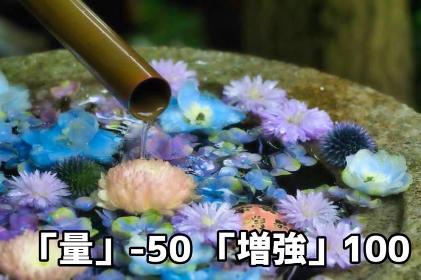文字量−50+増強100