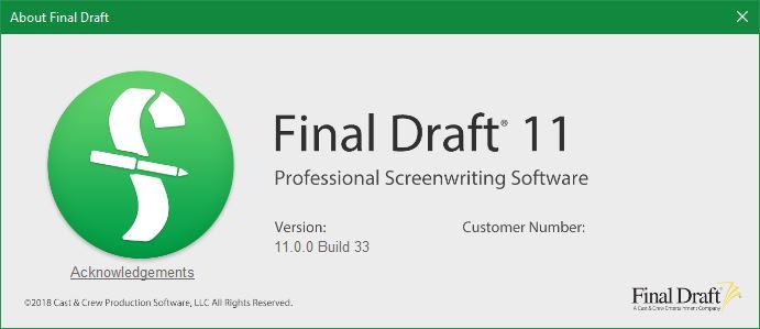 Final Draft 11 Build 33 x86 x64 full