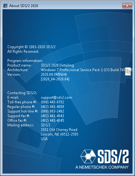SDS-2 2020 Detailing x64 full license