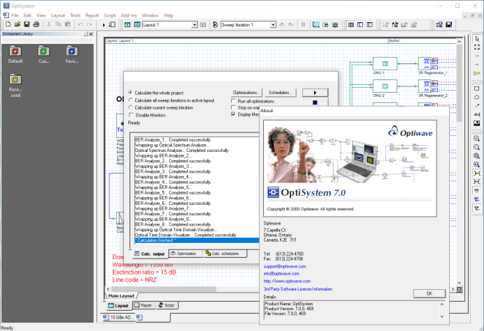 Working with Optiwave OptiSystem 7.0 full license