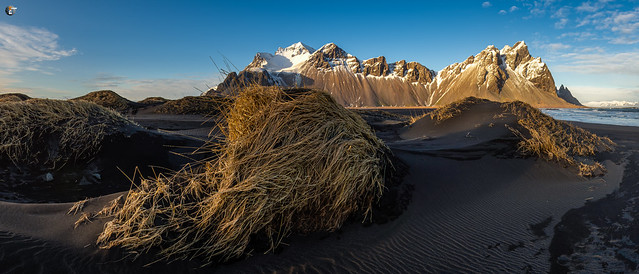 Sunset on Stokksnes Beach