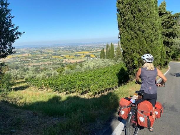 Blick von Cortona ins Tal