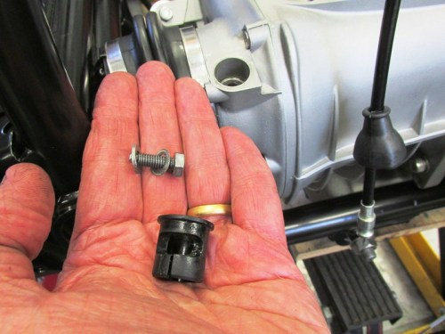 "Speedometer Drive Transmission Bushing And Breathe"" Bolt Detail"