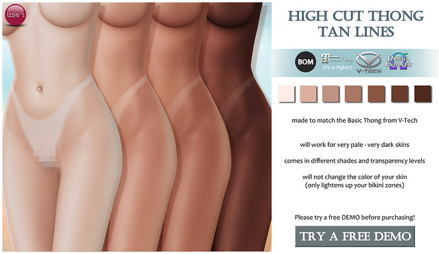 High Cut Thong Tan Lines (for FLF)