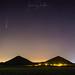 Comète Neowise au dessus des terrils du Pays à part, Haillicourt, juillet 2020