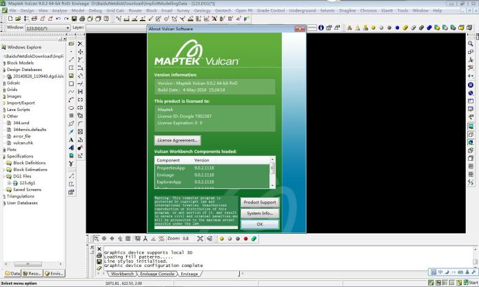 Working with Maptek Vulcan 9.0.2 Build 1118 full license