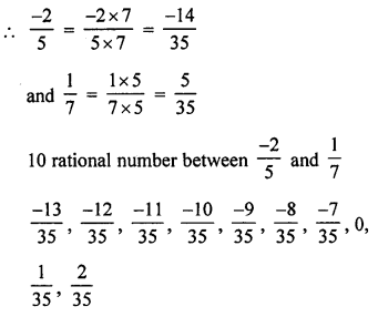 ML Aggarwal Class 9 Solutions for ICSE Maths Chapter 1 Rational Numbers Ex 1.1 Q8