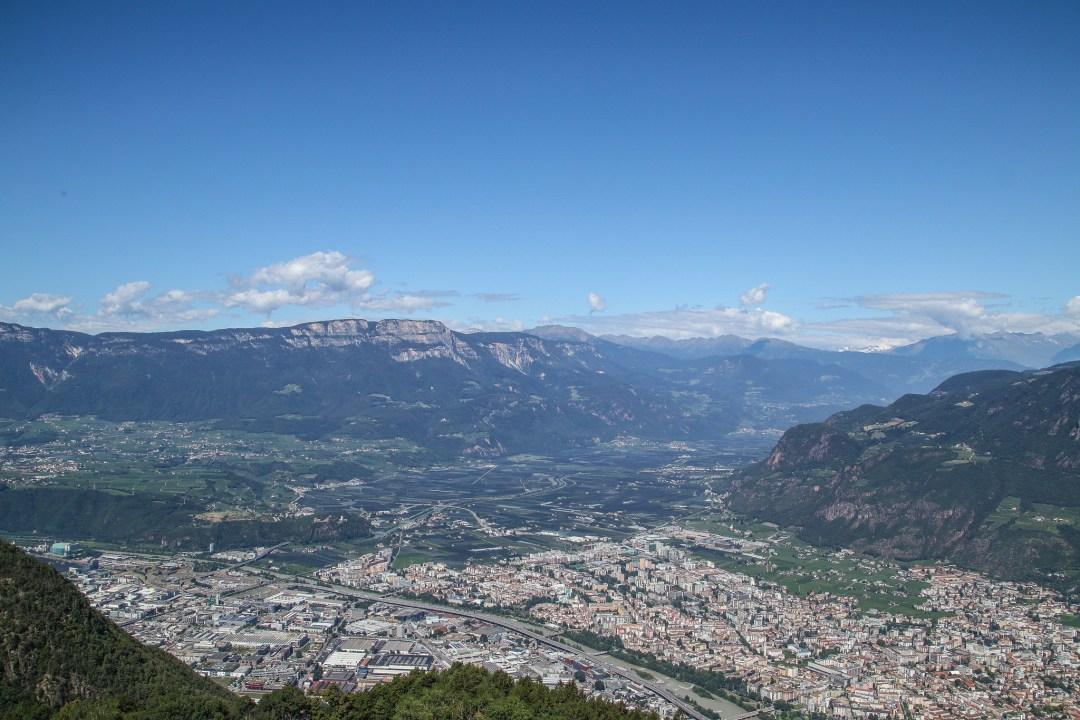 Bolzano dall'alto, funivia del Colle