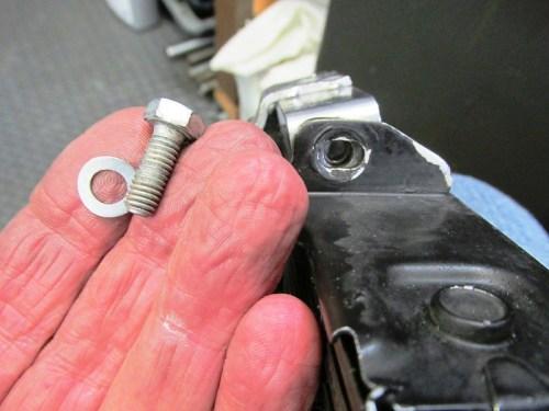 Oil Cooler Bracket Hardware Detail