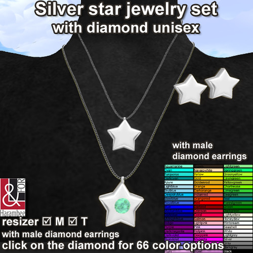 Silver Star jewery set (changes colors)