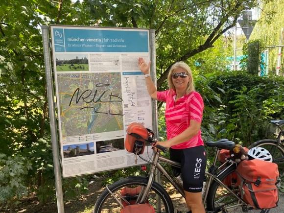 Hier startet der Radweg München Venedig