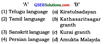 GSEB Solutions Class 10 Social Science Chapter 4 Literary Heritage of India
