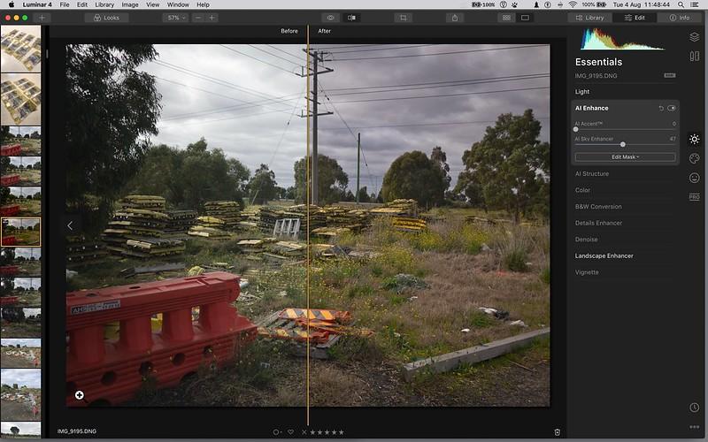 screen grab of Luminar 4