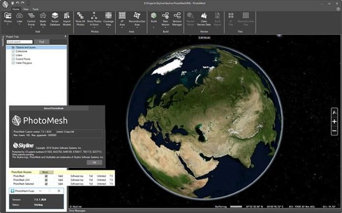 Working with Skyline PhotoMesh - PhotoMesh Fuser 7.5.1.3634 full
