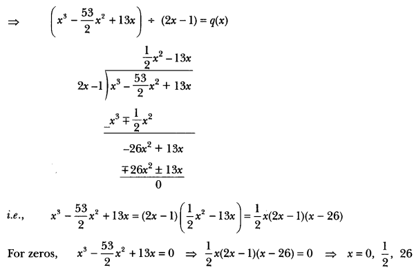 Polynomials Class 10 Extra Questions Maths Chapter 2 with Solutions Answers 25