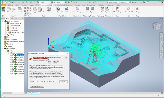 Working with InventorCAM 2020 SP3 for Autodesk Inventor 2020 full
