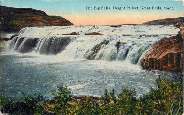 The Big Falls Missouri River MT 1910